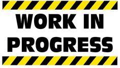 Work in Progress Sign Board | Free Vectors | Pinterest ...
