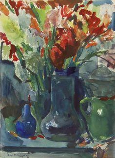 Kees Verwey (Amsterdam 1900-1995 Haarlem) Gladiolen - Kunsthandel Simonis en Buunk, Ede (Nederland).