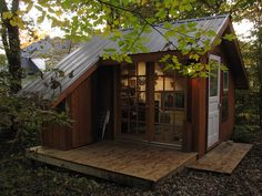 One day...I will have one. Art studio with windows and lots of light! Storage for all my finds that need fixin.