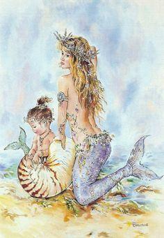child mermaids - Google Search