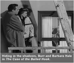 Scene from Perry Mason, 'The Case of the Baited Hook'