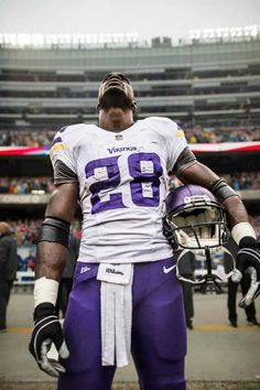 Adrian Peterson, one of the toughest, story driven, life driven, football player you will ever see play the game of football.