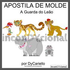 >> Apostila digital de moldes A Guarda do Leão [conforme imagem], para ser feito em feltro/tecido.  >> Vem com os personagens que estão na imagem! Nesta mesma posição! http://incondycional.iluria.com/pd-40a75f-apostila-digital-de-moldes-a-guarda-do-leao.html?ct&p=1&s=1