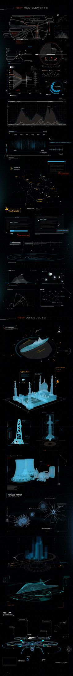 About Quantum HUD Infographic :    	After releasing most popular HUD pack (Phantom HUD Infographic) we've decided to take Hitech & HUD world into a new level and guess what...