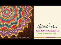 Cobija zigzag con trenzas en 2 direcciones tejida a crochet - YouTube