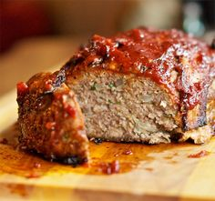 Bacon BBQ Meatloaf, ok i am not one for meatloaf but it has bacon!!!