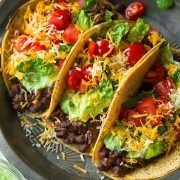 These Quinoa Black Bean Tacos have been a family favorite recipe for years! They are healthy, filling and completely delicious! A must try quinoa recipe.