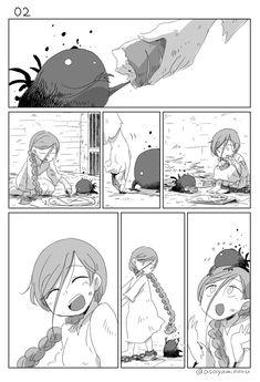 Anime Witch, Anime Comics, Comics Story, Sad Art, Cute Stories, Short Comics, Witch Art, Manga Pages, Dark Fantasy Art