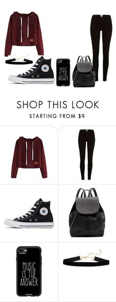 Untitled #27 by fnaf4lyfe on Polyvore featuring River Island, Converse, Witchery and Casetify