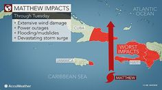 Major Hurricane Matthew will bring great risk to lives and property from Haiti and Cuba to the Bahamas this week.