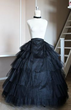 Victorian 1860 with stiff tulle petticoat by SecretTimes on Etsy