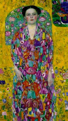 Portrait of Eugenia Primavesi, 1913. Oil on canvas painting,  Gustav Klimt.