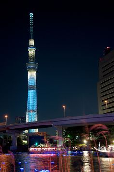 Happy Birthday Tokyo Sky Tree!!  Image captured By littleflag106 on Flicker