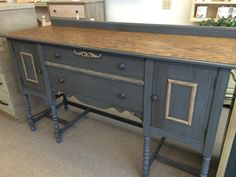 1905 buffet chalk painted with a natural top and original hardware