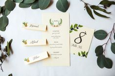 Free Printables for Holiday Table Decorations or Winter Wedding.