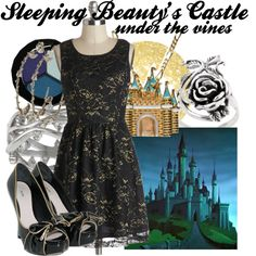 """""""Sleeping Beauty's Castle (under the vines)"""" by amarie104 on Polyvore"""