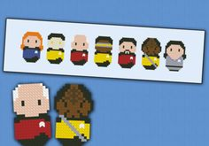 Star Trek Next Generation parody Cross stitch by cloudsfactory