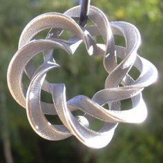 mobius spiral pendant