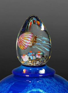 While on a trip to the Monterey Bay Aquarium many years ago, artist Rick Satava became entranced with a tank full of pacific coast jellyfish. Looking at them up close felt like admiring art at a museum. From then on, he set about dedicating his life's work to recreating these beautiful creatures in glass form. […]