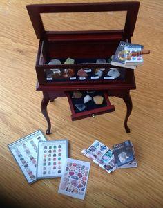 Dolls House Miniatures - Gemstone Curio Cabinet