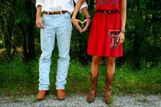 If you marry a fellow Red Raider go ahead and Incorporate Tech into engagement photos.