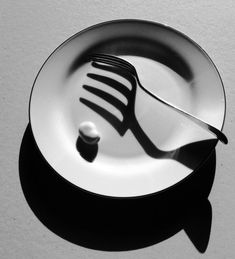 quintessenceinblackandwhite: Stanko Abadžic: Fork and Plate
