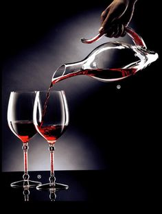 EISCH  Limited Edition! DUCK DECANTER with Red Crystals รุ่น No Drop 1.5 ลิตร