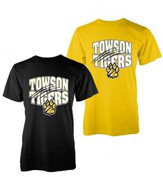 Black and Yellow youth #Towson shirts small, medium and large only $14.99 @ 208 York Rd. Towson, MD 21204