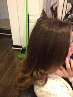 Light brown with soft beige blonde highlights