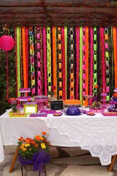 Projetos Inventivos: Festa neón 10 anos... infantil com ares teen...