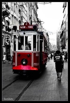 Turkey Streetcar Trains, Turkey Photos, Bonde, Light Rail, Capital City, Public Transport, Black And White Photography, Countryside, Istanbul