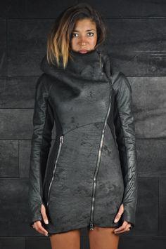 Alessandra Marchi – Shearling long Leather Jacket