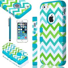 iPhone 5S case, ULAK Colorful Wave Hybrid High Impact Soft TPU + Hard PC Case Cover for Apple iPhone 5S 5 5G with Screen Protector and Stylus (Blue) ULAK http://www.amazon.com/dp/B00NUXK9AA/ref=cm_sw_r_pi_dp_4gfyub1BH0QJV
