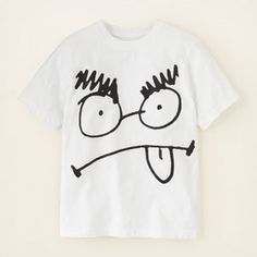scribble graphic tee
