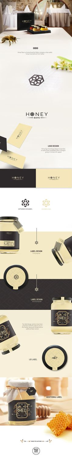 Honey Days logo and label design on Behance