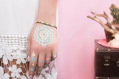 Bracelet jonc ICA - tissage en coton : Bracelet par amelys