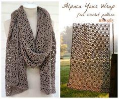 Alpaca Your Wrap - Free crochet pattern
