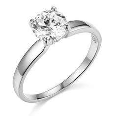 White Gold Wedding Engagement Ring Size 6 >>> Check this awesome product by going to the link at the image. (This is an affiliate link) Best Engagement Rings, Engagement Ring Sizes, Vintage Engagement Rings, Wedding Engagement, Wedding Jewelry For Bride, Gold Wedding, Wedding Ring, Dream Wedding, Cubic Zirconia Engagement Rings