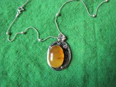Vintage Genuine Natural Baltic amber 10 gr gramm  Necklace Sterling Silver 925