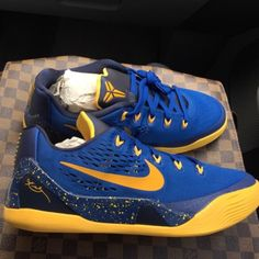 fcdeddf61e11 Kobe 9 s Blue and Yellow Brand New