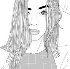 Black And White Drawings Of Girls Tumblr Girl Drawing, Tumblr Sketches, Tumblr Drawings, Tumblr Art, Drawing Sketches, Style Tumblr, Tumblr Outline, Outline Art, Outline Drawings