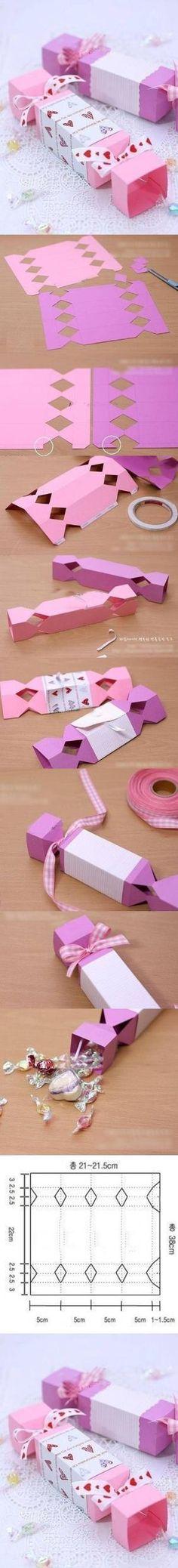DIY Cute Candy Gift Box
