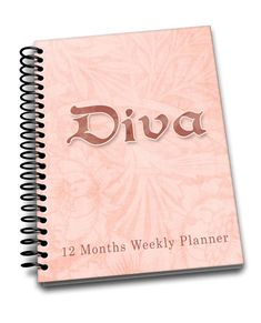 Diva | Perpetual Weekly Planner | 2 pages a week | Passwords | Contacts | Notes | Annual Goals Notebooks, Journals, Weekly Planner, Diva, Notes, Handmade Gifts, Etsy, Kid Craft Gifts, Report Cards