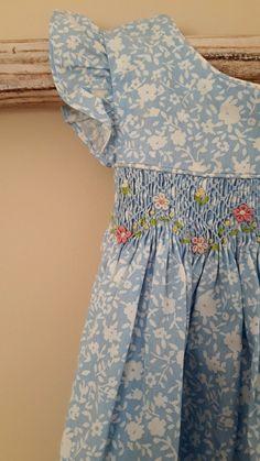 Newborn Girl Dresses, Girls Smocked Dresses, Little Girl Dresses, Cotton Dresses, Baby Dress Design, Baby Girl Dress Patterns, Smocking Patterns, Smocking Plates, Skirt Patterns