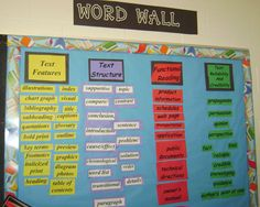 Middle School Reading Word Wall - neat different ideas!