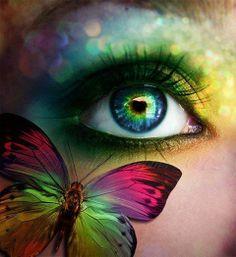 Vlinder oog.