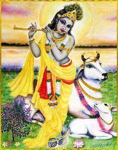 "SHRI KRISHNA GOVINDA ॐ Shri Krishna said: ""Those who always worship Me with exclusive devotion, meditating on My transcendental form—to them I carry what they lack, and I preserve what they have.""~Bhagavad Gita as it is Please listen to. Krishna Lila, Jai Shree Krishna, Cute Krishna, Radha Krishna Love, Radhe Krishna, Lord Krishna, Radha Rani, Lord Shiva, Indiana"