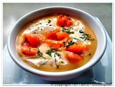 Sophisticated Potato #Soup with #Salmon