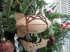Steampunk airship ornament - Steampunk Ornament Swap ORGANIZED CRAFT SWAPS on Craftster.org