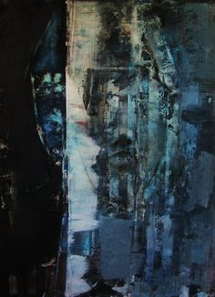 Jonathan Curry, 'Striped Face'. 2007, acrylic on canvas 24 x 36 inches